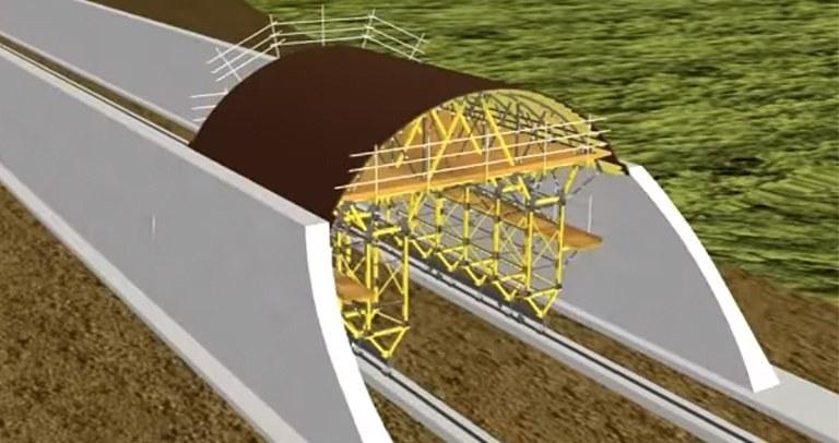 Carro falso túnel MK